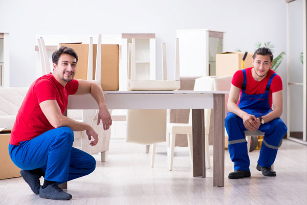 photo of furniture movers at work