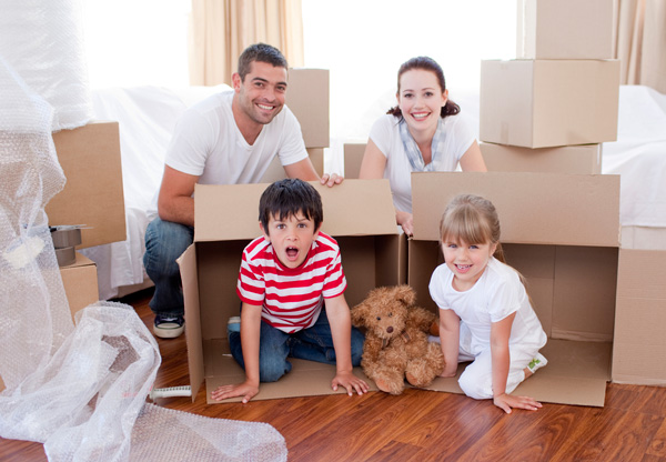 image of moving with kids