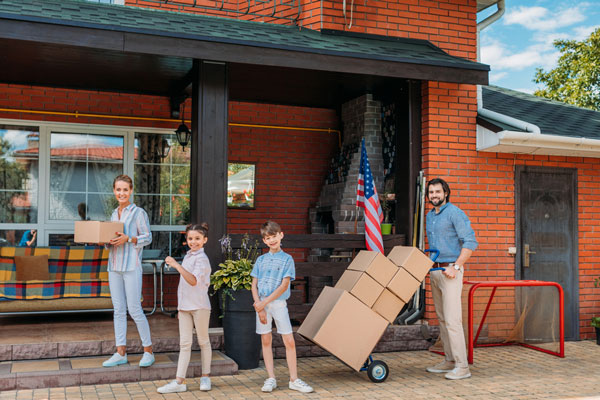 photo of a family moving to another state