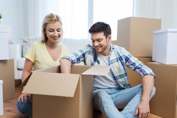 couple preparing for out of state relocation