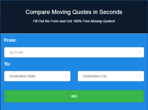 image of moving cost calculator to get moving quotes