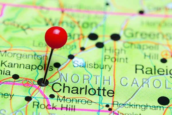 Charlotte North Carolina Map